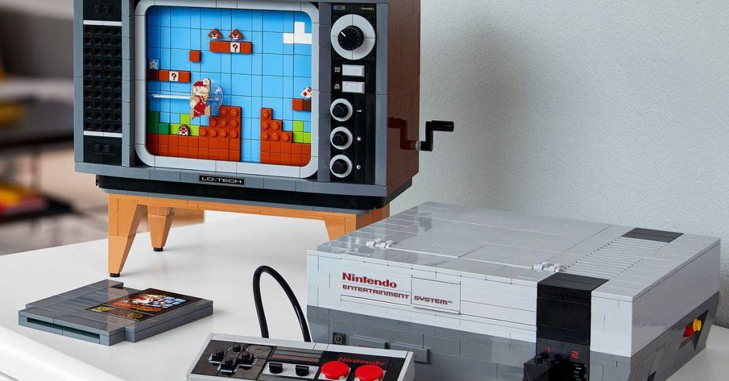 Lego hizo una réplica de 2.600 piezas de Mario en la NES