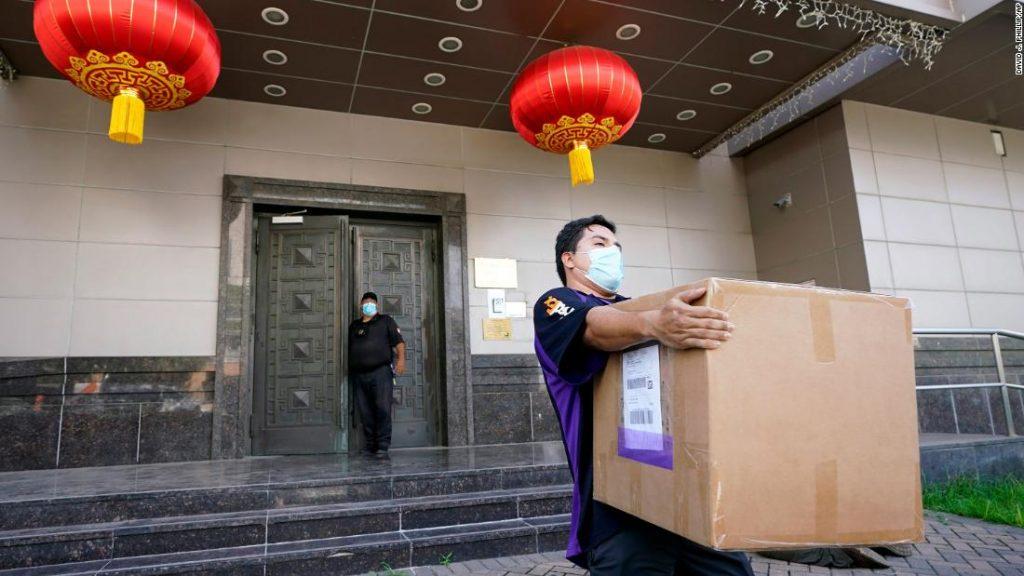 Why did China choose the Chengdu consulate to retaliate?