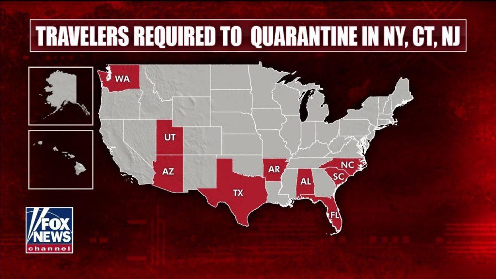 Nueva York, Nueva Jersey, Connecticut agregan 10 estados a la lista de restricción de cuarentena obligatoria
