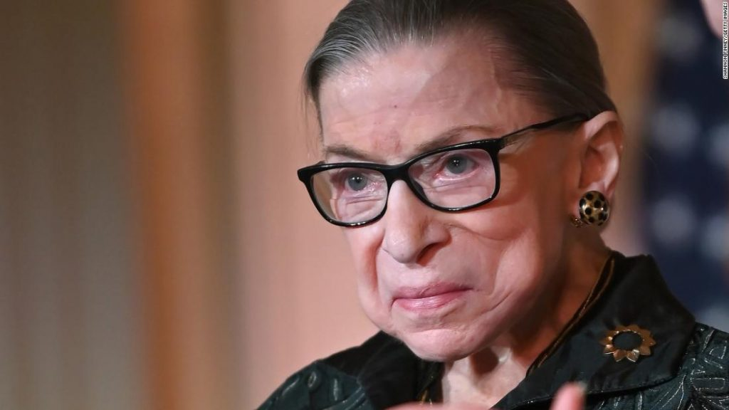Ruth Bader Ginsburg undergoing chemotherapy treatment
