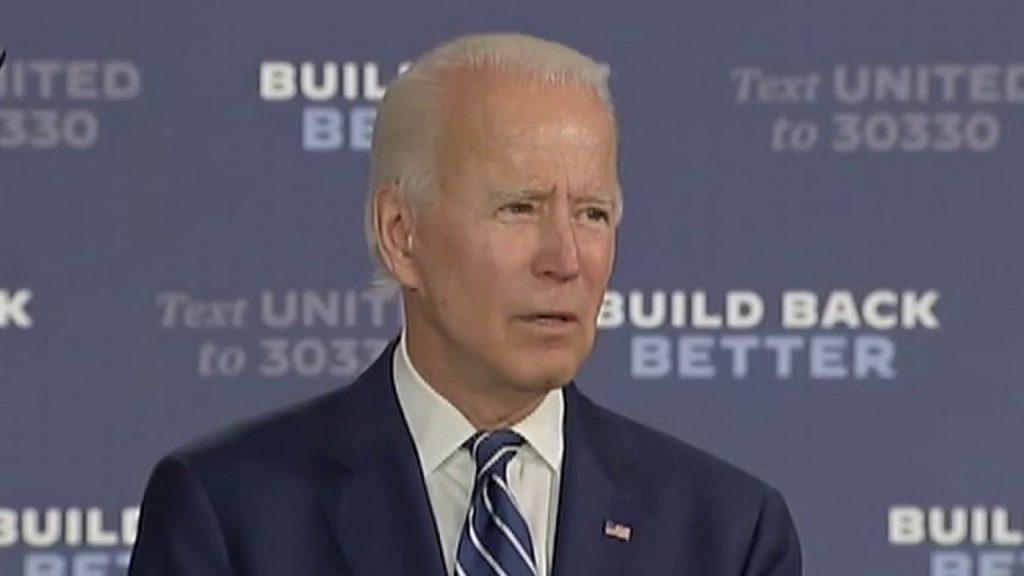 Biden bromea con Fox News que se decidió por vicepresidente, campaña dice que es una broma