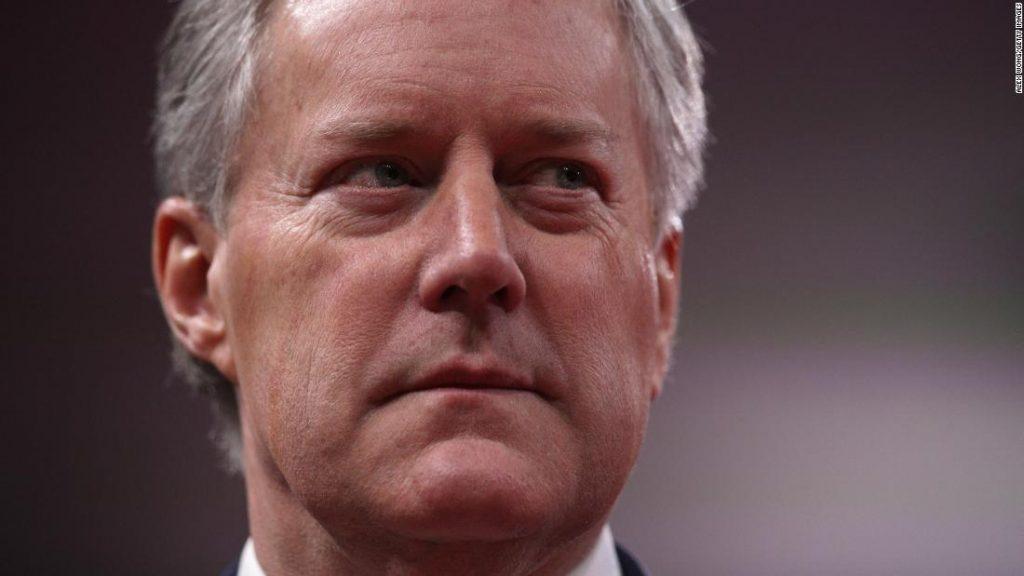 Mark Meadows, jefe de gabinete de la Casa Blanca, presenta una acción ejecutiva sobre el desempleo y los desalojos si el Congreso no puede llegar a un acuerdo
